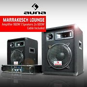 "DJ PA Package ""Marakesh Lounge"" Speakers & Amplifier Set"