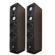 Pair of Koda 3-way Hifi Speakers  Wood Lacquer 200W RMS