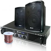 Skytec Catering Set PA Boxes Amplifier Speakers