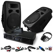 "DJ Set ""Bass Blast Force""- Amplifier, Speakers 1600W Peak output"