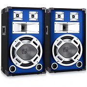 "Pair Skytec Blue LED 12"" Passive DJ PA Speakers - 1200W"
