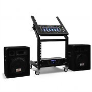Complete DJ PA Set 'Pluto Gravity' - Amp, speakers mixer - 200 People