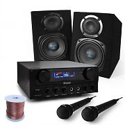 'Rio Rumble' Basic PA DJ Karaoke System Amplifier & Speakers Package