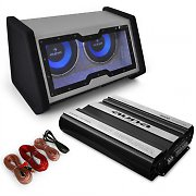 "'Basstronaut' Car Audio Set with Dual 12"" Subwoofer, Amp & Cable"