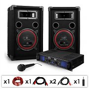 DJ PA System 'DJ-14' PA Amplifier& Speaker Set 500W