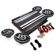 4.0 'Platin Line 400' Car Stereo System Amplifier Speakers 2400W