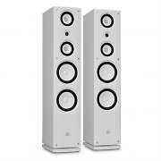 Pair Koda 858F Hi-Fi 3-Way White Tower Speakers 200W RMS