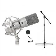 DJ PA Studio & Stage Microphone Set with Microphone, Tripod and Microphone Shield
