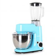 Klarstein Carina Azzura  Set 800W Food Processor + 1.5L Blender Blue