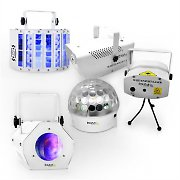 "Ibiza LED DJ Party Lights &  Effects Set ""White Light Party II"""