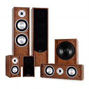 Auna Line 300-WN 5.1 Home Cinema Hi-Fi Speaker System 515W - Walnut
