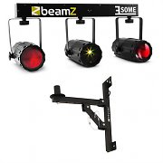 Beamz 3-Some Laser LED Light Effect Set 5-pc with Wall Mounting