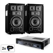 "PA Set Sapphire Series ""Warm Up Party TX8"" Pair 20cm Speakers & Amplifier 800W"