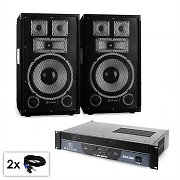 PA Set Sapphire Series 'Warm Up Party TX10' Pair of 25cm Boxes & Amplifier 1200W