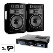 PA Set Sapphire Series 'Warm Up Party TX15' Pair of 38cm Boxes & Amplifier 2000W