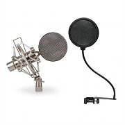 Auna Microphone Set with Studio Microphone & Pop Filter