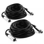 2 x FrontStage XLR Male to Female Cables 10m with High-Quality Terminals