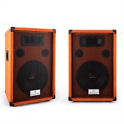 "Pair of Malone Beatamine-D 10"" PA Speakers Set 200W RMS 400W Max. Orange"