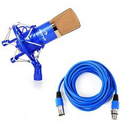 Auna CM001BG Studio Microphone Blue / Gold XLR Condenser with 6m Cable