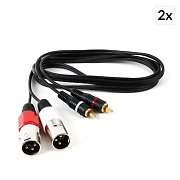 FrontStage Connection Cable Set 2-pc 1.5m 2 x XLR to RCA