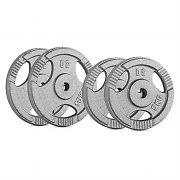 CAPITAL SPORTS IP3H 30 kg Set Weight Plate Set 2 x 5 kg + 2 x 10 kg 30 mm