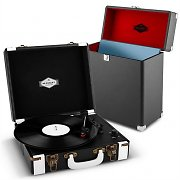 auna Jerry Lee Record Collector Set Black | Retro Record Player | Record Case