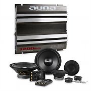 auna CS-Comp-8 Car HiFi Set 2-Channel Power Amplifier Speaker Set & 2-Channel Power Amplifier
