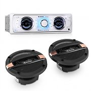 auna MD-170-BT Car Hifi Set Car Radio + 4-way Car Speaker MP3 USB SD BT
