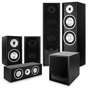 auna Black-Line 5.1 Home Cinema Set Soundsystem Black