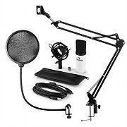 auna MIC-900WH USB Microphone Set V4 Condenser Design Pop-Protection Microphone Arm white