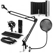 auna MIC-900B USB Microphone Set V5 Condenser Microphone Pop-Protection Microphone screen Microphone arm
