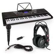 Schubert Etude 225 USB Learning Keyboard with Headphones, Microphone and Jack Adapter