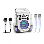 auna Kara Liquida Grey + Dazzl Mic Set Karaoke Microphone LED Lighting