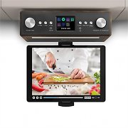"auna Connect Soundchef Kitchen Radio with Tablet Holder DAB + FM 2x3"" Boxes Walnut"