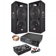 "PA System ""London Calling II"" Dual 15"" 2000W Speaker Pair, Ibiza DJ CD Mixer, 2000W Amplifier"