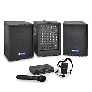 Portable Mobile 150w RMS PA System & Wireless Microphone Set