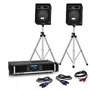 "DJ ""HT10"" PA Set 800w System with Amplifier, Speakers, Stands & Cables"